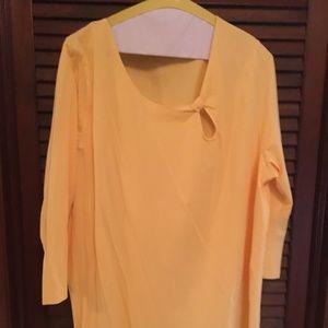 Lane Bryant Yellow Top